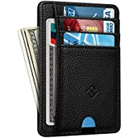 Slim Minimalist Front Pocket Wallet, Fintie RFID Blocking Credit Card Holder Card Cases with ID Window for Men Women
