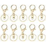 Lovoski 10本 キーホルダー 金具 キーリング 鍵 ペンダント 装飾 アクセサリー 全5様式選ぶ - 様式3