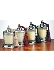 Badash Vanilla Scented Candle Jar Set 4 pc by Badash