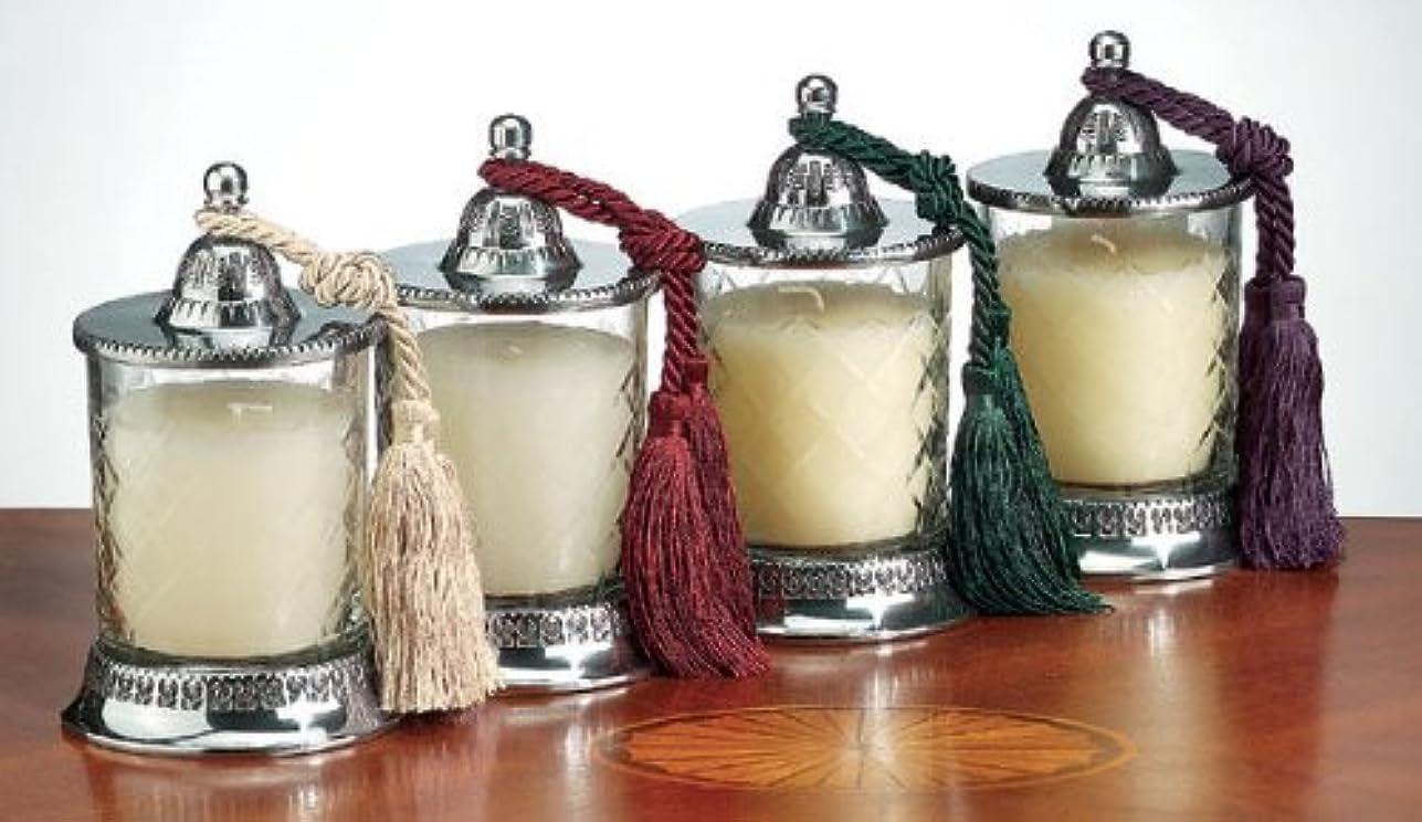 擁する方法論乱雑なBadash Vanilla Scented Candle Jar Set 4 pc by Badash