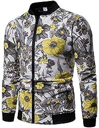 Keaac メンズカジュアルエスニックプリントパターンフロント郵便ビッグとトール軽量ジャケット