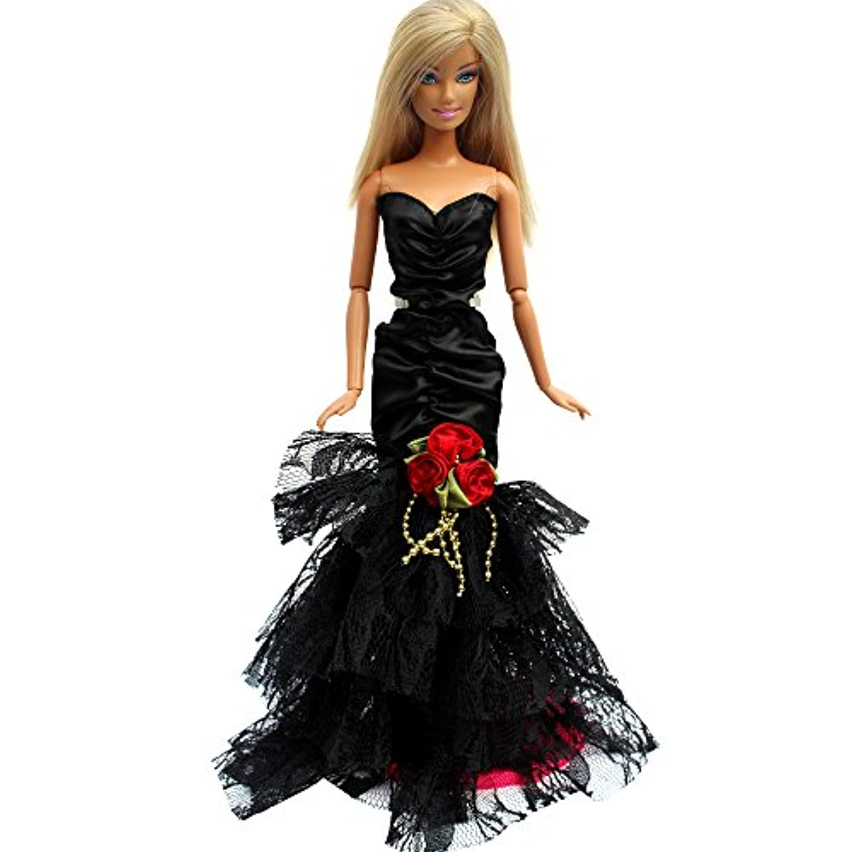「Barwawa」バービー 服 ドレス マーメイドドレス プリンセスドレス 1/6ドール用 人形用 アクセサリー ジェニー 服  ジェニー ウェア ジェニー ドレス  手作り パーティードレス