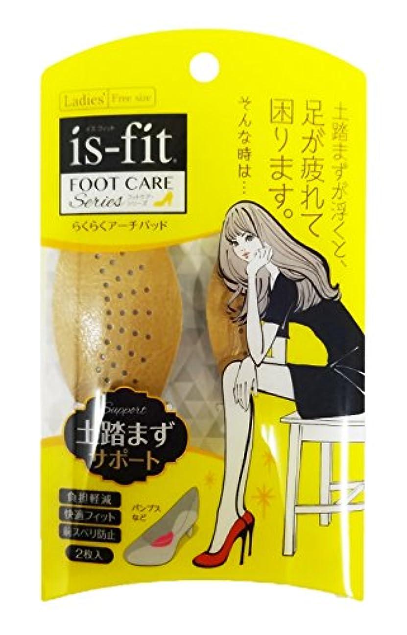 で出来ている臨検食事is-fit(イズフィット) らくらくアーチパッド 2枚入