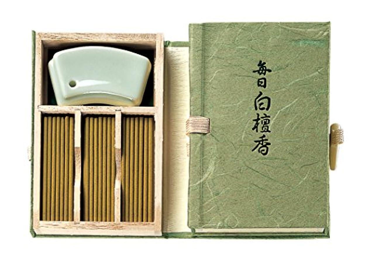 まっすぐにする紳士気取りの、きざなスリッパNippon Kodo – Mainichi Byakudan (サンダルウッド) 60 Sticks