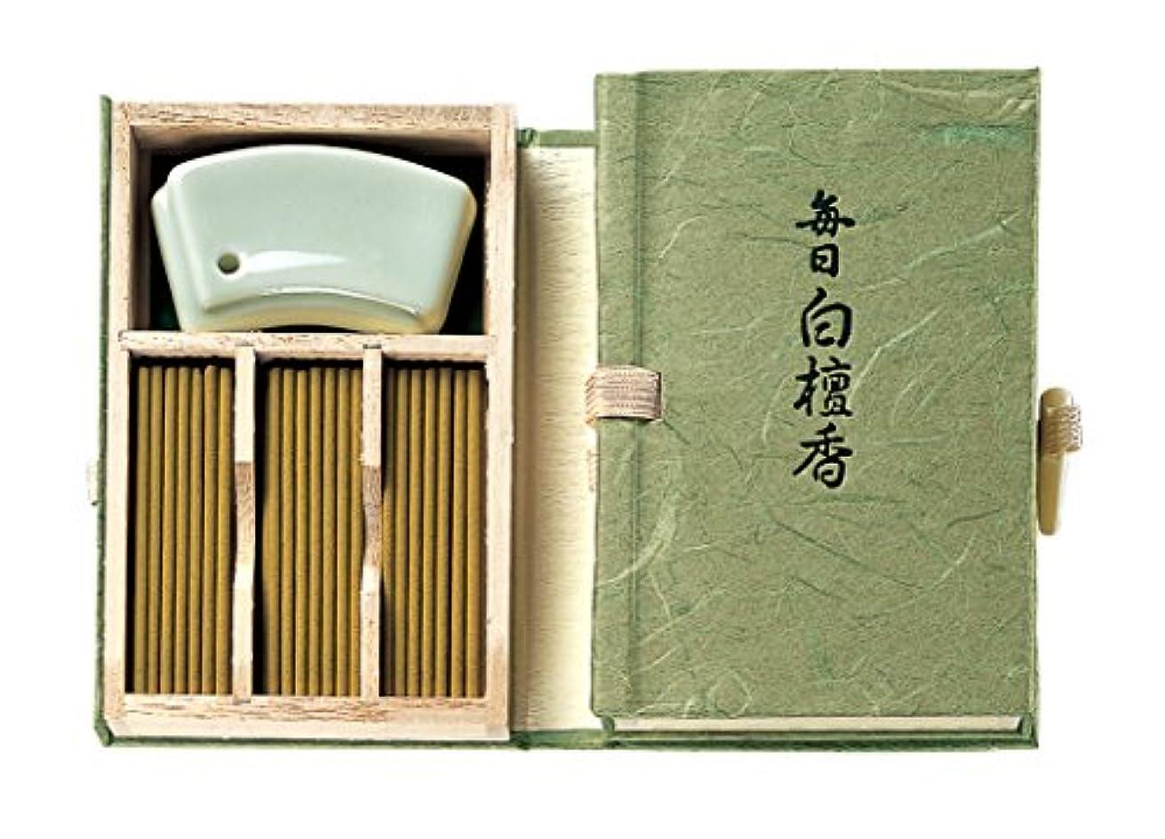 大きなスケールで見るとレポートを書く吸収剤Nippon Kodo – Mainichi Byakudan (サンダルウッド) 60 Sticks