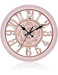 掛け時計 連続秒針 おしゃれな 古典的な アンティーク調 北欧風 インテリア 静音 レトロ 壁掛け時計 ウォールクロック ホワイト