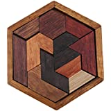 Onior プレミアム 木製パズル 知育玩具 積み木 パズル 子供おもちゃ タンラン カラフル かわいい 便利