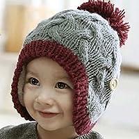 2bcf278eaa44e7 (サクタネ)SAKUTANEベビー 用 ニット 帽子 ニット帽子 可愛い ニット帽子 耳あて パイロット