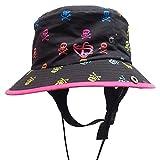 サーフハット レディース FELLOW サファリハット レディース 海 帽子 UPF50+ 紫外線99%カット プール 帽子 サーフィン 帽子 レディース SUP 海水浴 グッズ サファリハット 帽子 UV ハット レディース 夏フェス 帽子 サーフィン 帽子 (SKULL-PK)