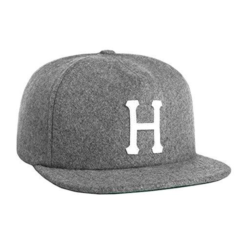 (ハフ) HUF キャップ 帽子 ストラップバックキャップ ウール ロゴ  【huf303】 ワンサイズ GREY-HEATHER [並行輸入品]