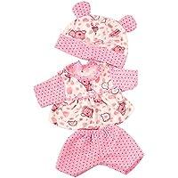 Dovewill おしゃれ 可愛い 布製 ドット 衣類  帽子付属  18インチ アメリカンガール人形適用