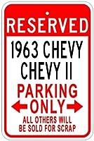 196363ChevyシボレーIIアルミニウム駐車場サイン 10 x 14 Inches