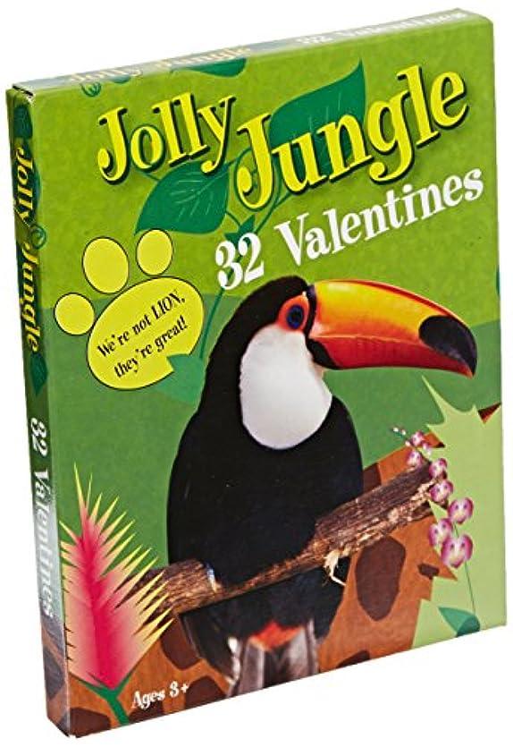 ヘロイン暗殺するアヒルPaper Magic Jolly Jungle Valentine Exchange Cards (32 Count)