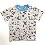 おさるのジョージ Tシャツ スポーツ総柄 グレー (110)