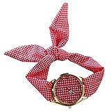 PolytreeレディースGirl 's花柄布バンドフラワードレスクォーツ腕時計(タイプ18)
