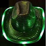Light Up The Dance Floor 。With aグリーンライトUp Cowboy / Cowgirl Hat 。 – 国音楽ファンに最適のプレゼントBe