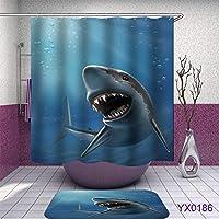 RaiFu シャワーカーテン 防水 防水 海洋 動物 シリーズ シャワー カーテン バス 家の装飾 Yx0186 180 * 180