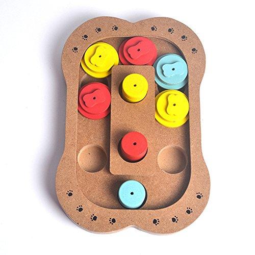 ペット用おもちゃ 犬用知育玩具 ペット食器 スローフィーダー 早食い防止 健康 新品 木製 多機能 ...