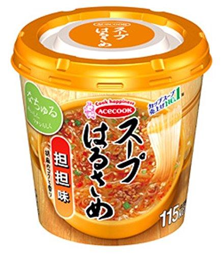 エースコック スープはるさめ 担担味 1箱:6個入り