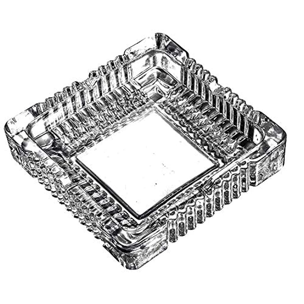 振り向くアーカイブファイルクリスタルラージクラシックスクエア灰皿5.9インチx 5.9インチ