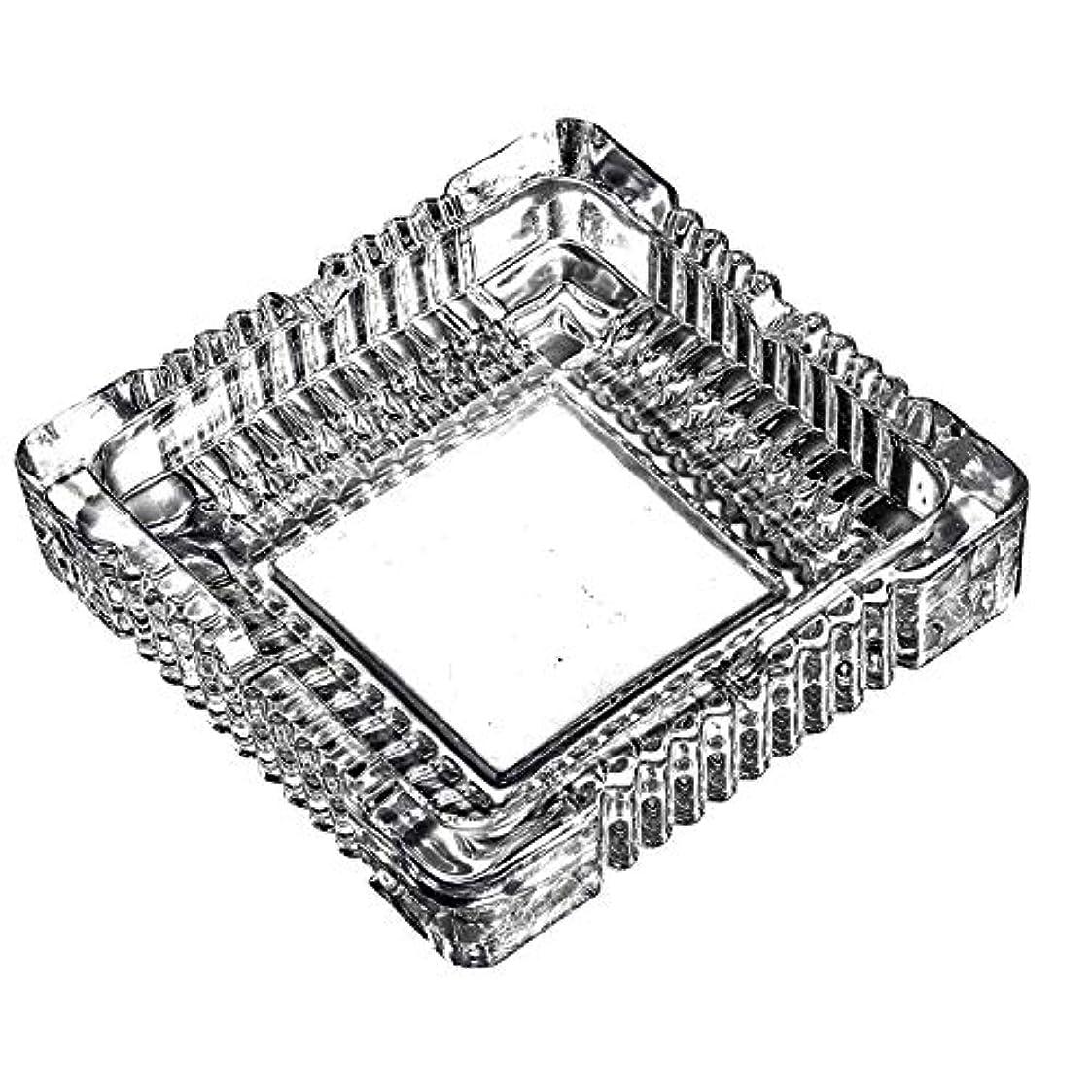 ロック病的電気クリスタルラージクラシックスクエア灰皿5.9インチx 5.9インチ