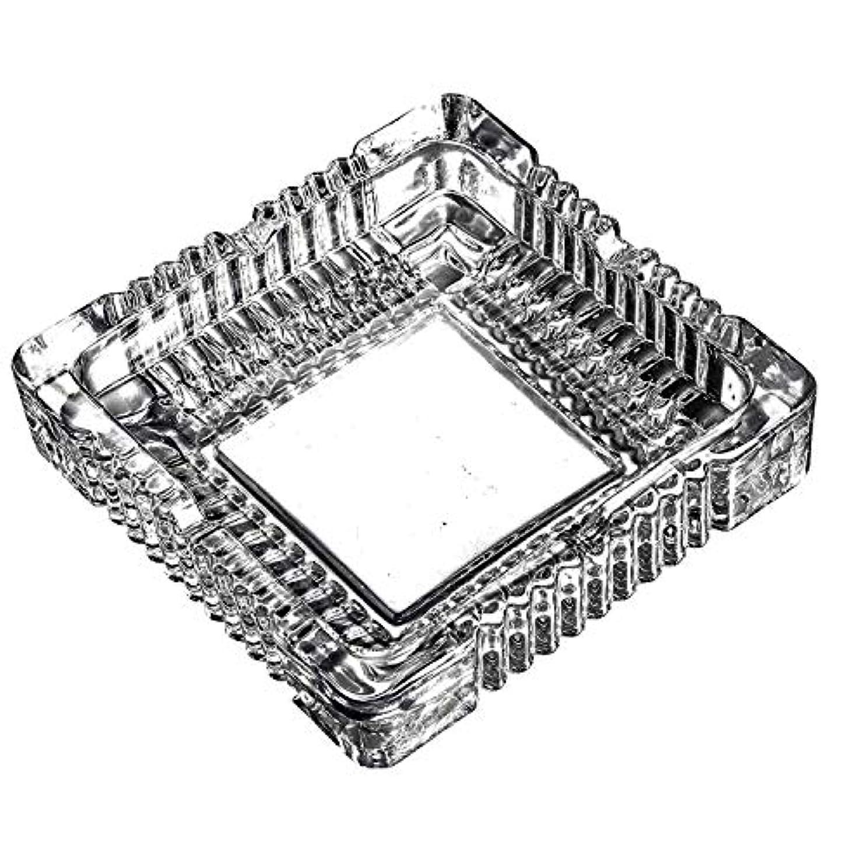 日付付き図労働クリスタルラージクラシックスクエア灰皿5.9インチx 5.9インチ