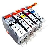 Canon(キャノン) 純正互換インクカートリッジ BCI7e+9BK 5色セット 残量表示機能付 azuinkオリジナル