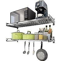 LC-キッチンラック 304ステンレス製電子レンジオーブンウォールマウントキッチンシェルフウォールオーブンシェルフキッチンラック収納ラック (サイズ さいず : 90cm)