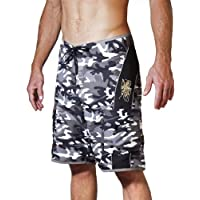 Maui Rippers Men's Camo Board Shorts with The Embroidered Octopus Logos