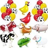 パーティー飾り付け 動物風船 可愛い羊 うま 豚 牛 鶏 犬 アヒルの風船 飾り付け 可愛いラテックスバルーン 子供 大人 立体バルーン 面白い パーティー飾り