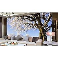 Mingld リビングルームの木のためのカスタム3D壁紙雪の風景の背景の壁3D壁3D写真壁の壁画の壁紙-250X175Cm
