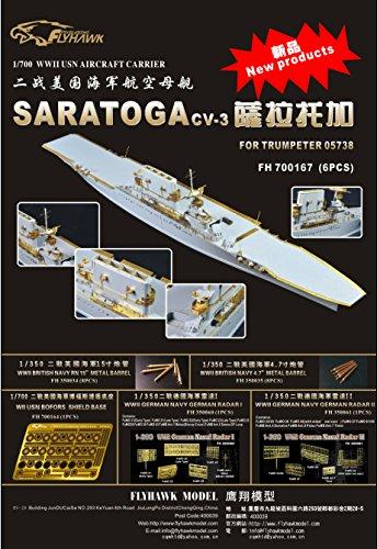 1/700 米海軍空母 サラトガ用エッチング for トランペッター05738