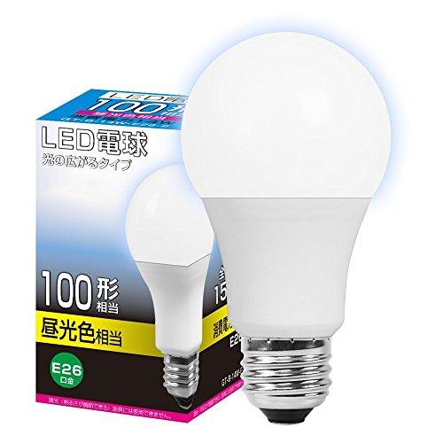 LED電球 E26 100W形相当 広配光タイプ 昼光色 (...