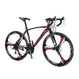 Extrbici XC550 ロードバイク シマノ21段変速 26インチ スチールフレーム 通勤通学用 クロスバイク ディスクブレーキ アップグレード