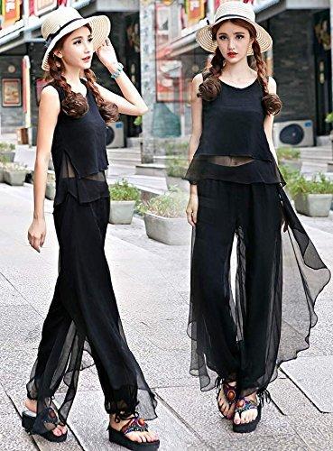 黒 ブラック ダンス衣装 スカーチョ ワイドパンツ フラメン...