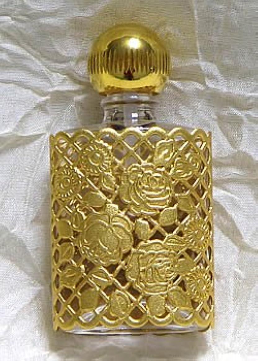 オールチラチラする夜明けパースパフュームボトル 平楕円 メタルローズ ゴールド