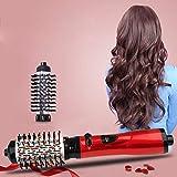 2 1回転多機能自動カーリングヘアホットエアーブラシ電気ドライヤーストレートアイロンツール (2 in 1 Rotating Multi-Functional Automatic Curling Hair Hot Air Brush Electric Dryer Straightener Iron Tool)