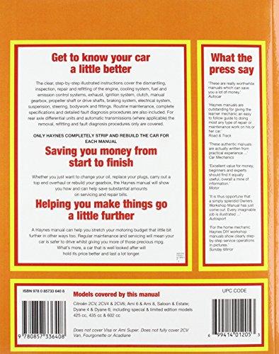 Citroen 2CV Owner's Workshop Manual (Haynes Service and Repair Manuals)