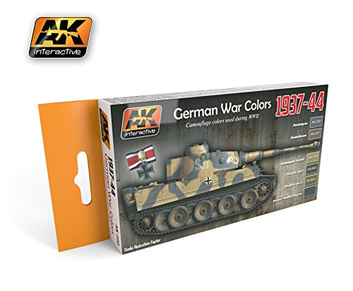 【AKインタラクティブ】AK560)1937-44ドイツ戦車塗装色セット