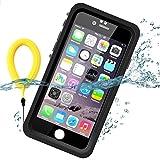 Temdan IPhone6/ IPhone6S用防水ケース 10メートル水深まで完全防水ケース 防振 防雪 防塵  耐衝撃多機能カバー 指紋認識可 水面に浮けるキックスタンド &フローティングストラップ付き  4.7インチ用(黒色&透明)