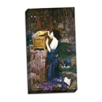 (v04–16–17) ジョン・_ William Waterhouse_パンドラ_フレーム_キャンバス_ Giclee_プリント_ w22_ X h37.5 >[Small] #20-Gallery-Wrap V04-16T-Stretched-Border