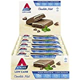 Atkins Chocolate Mint Bars | Keto Friendly Bars | 15 x 60g Low Carb Chocolate Mint Bars | Low Carb, Low Sugar, High Protein, High Fibre | 15 Bar Pack