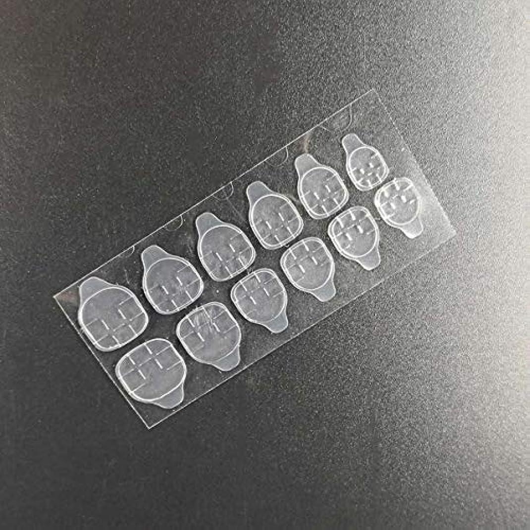 カスケード野なごみQuzama-JS ニースネイルゼリー両面粘着テープ透明ネイルグルーステッカーネイルアート美容実用実用ネイルゼリーステッカー(None Clear strip)