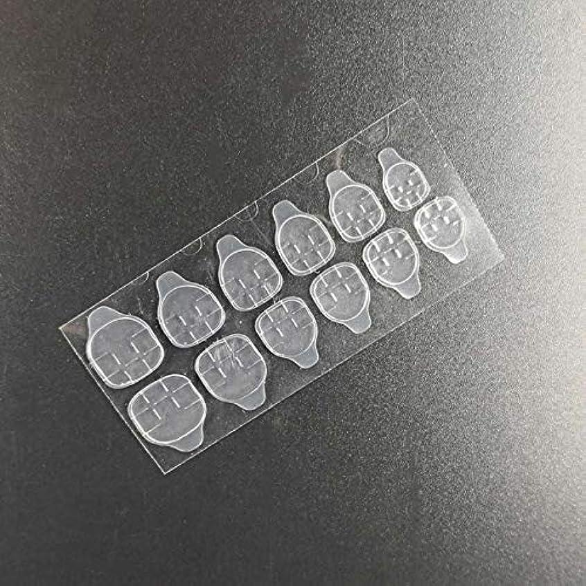 有名人抑制ばかQuzama-JS ニースネイルゼリー両面粘着テープ透明ネイルグルーステッカーネイルアート美容実用実用ネイルゼリーステッカー(None Clear strip)