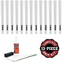 Pure Grips Proグリップキットwithテープ、溶剤、バイスクランプ( 13-piece、中堅企業、ホワイト