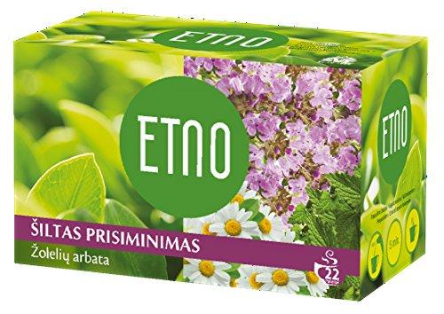 ETNO 130年間の伝統が続く老舗ハーブティー◆ 1,5g×22ティーバッグ■無添加・無香料・ノンカフェイン・天然のお茶 (ウォームリコレクションズ)