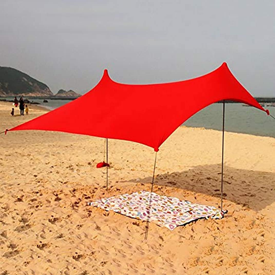 即席最終ウルルビーチサンシェード、ビーチテント、with品質Lycraファブリックテント、完璧な日シェルター、UV保護テント、屋外のキャンプ用釣りテント