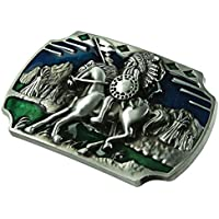 IPOTCH Vintage Fashion Classic Style Two Colors Cowboy Belt Buckle For All Occasion