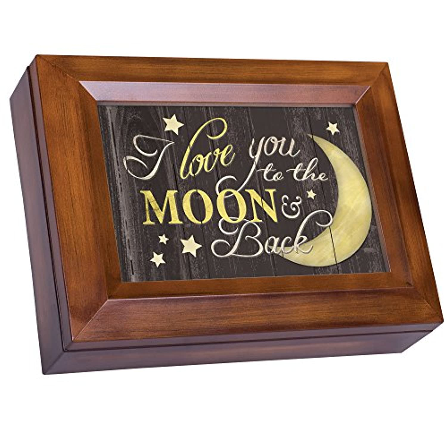 Love You To The Moon And Back木目調デジタル記念品音楽ボックスPlays Lean On Me