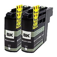 BROTHER LC113-BK×2 ブラック2本セット 〈ブラザー〉良質互換インクカートリッジ ICチップ/残量表示/1年間保証付き〈Chip製〉